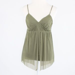 Olive green EXPRESS tank top blouse S